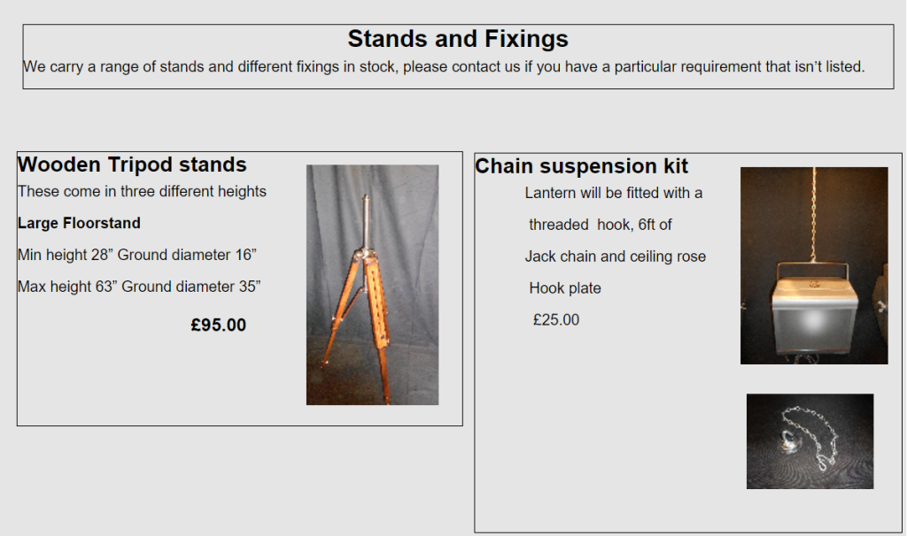 Ancient lighting stands